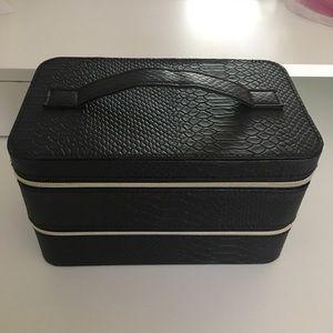 Lancome Beauty Box Makeup Black Organizer Case